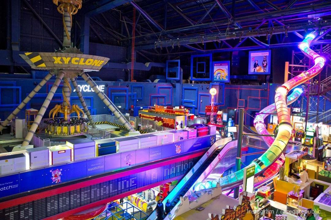 278b639584e6 Region s largest slide looking colourful in Sega Republic at The Dubai Mall