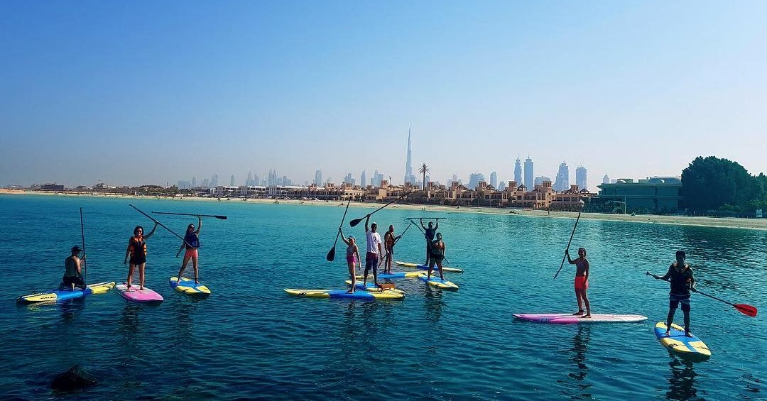 Paddle Board Kite Beach Dubai Where To Go Stand Up Paddle